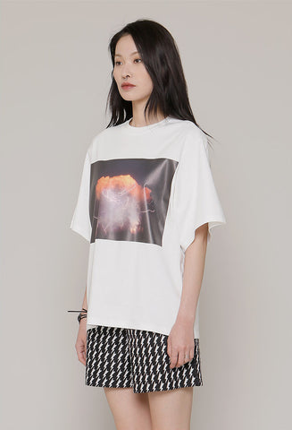 ROCKET X LUNCH lighting print tee
