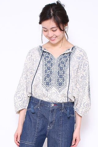 AS KNOW AS embroidery blouse