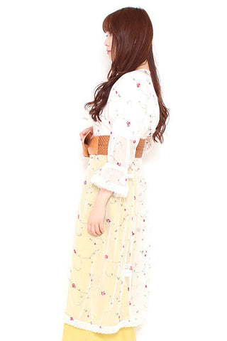 AS KNOW AS flower embroidery long blouse