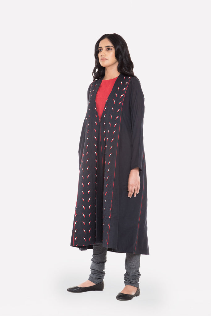 Long Appliqué Coat - Raag