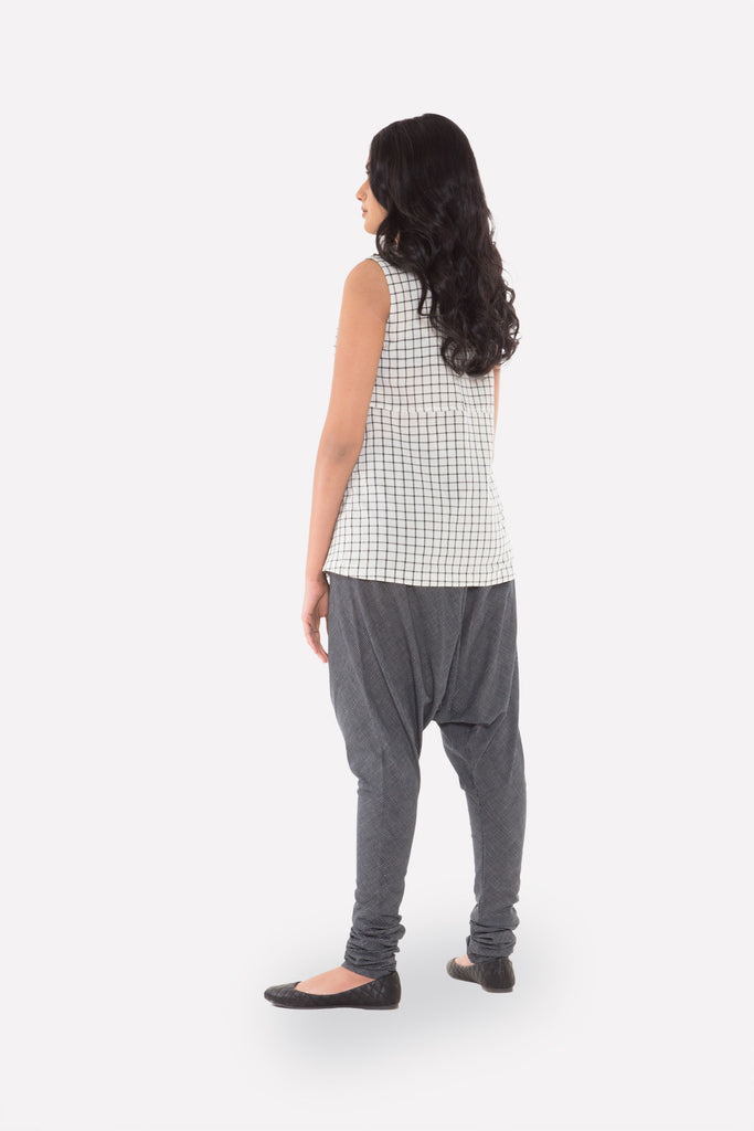 Checked Sleeveless Top - Raag