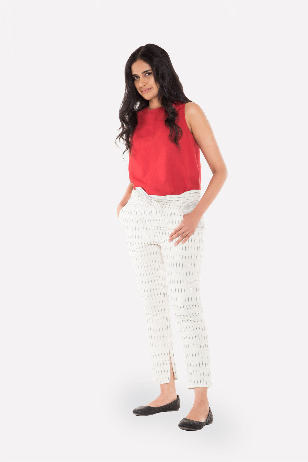 Tie­-up Cigarette Pants - Raag