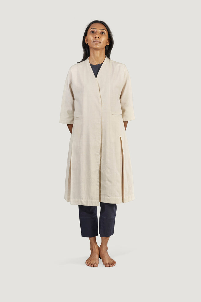 Box­ Pleat Coat - Raag