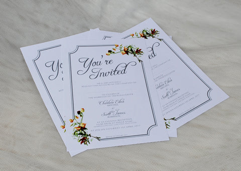 Flat Wedding Invitations