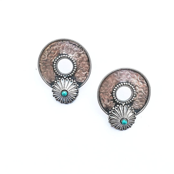 Bevel Earrings front - Quirksmith