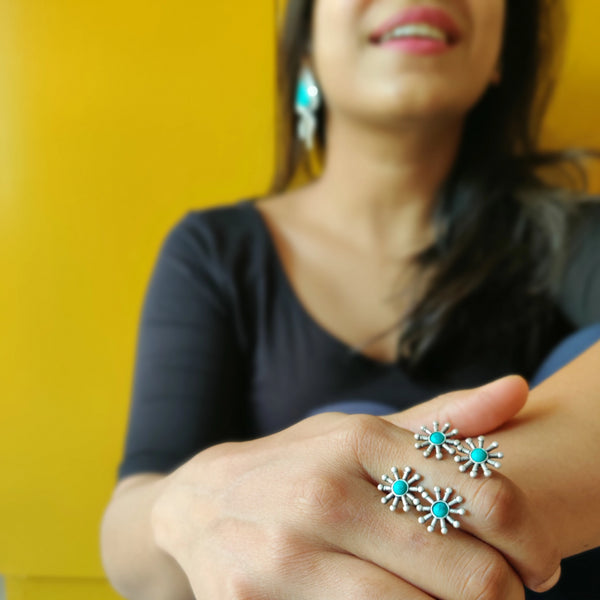 Turquoise Cluster Ring - Quirksmith