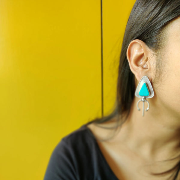 Tribal Earrings with Turquoise