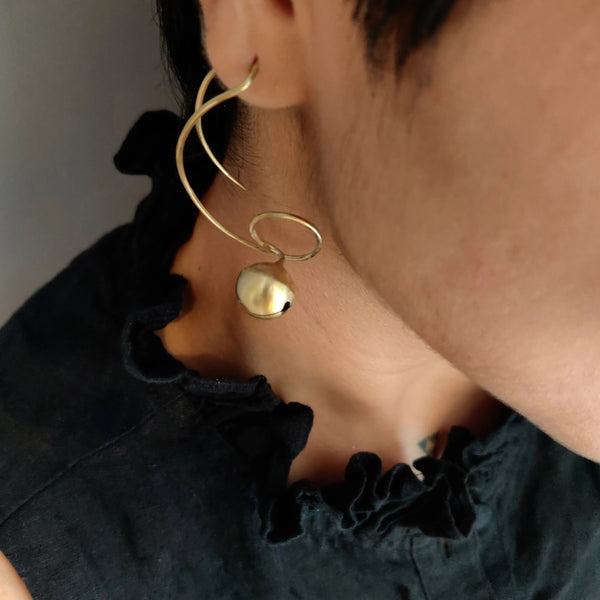 Golden Spiral Earrings (Fashion Jewellery) - Quirksmith