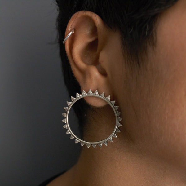 Statement large stud designs for silver jewellery