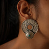 Handcrafted silver earrings for festive occasions