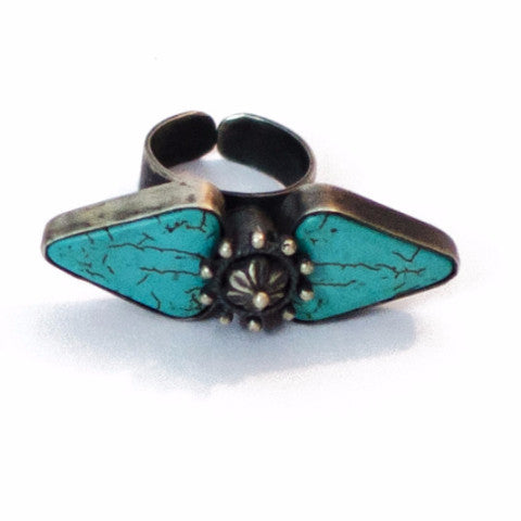 Dual Turquoise Ring - Quirksmith