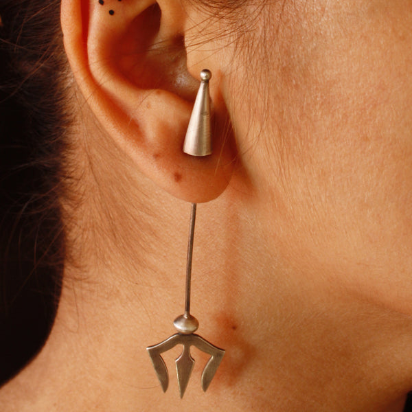 Trishul Earrings - Quirksmith