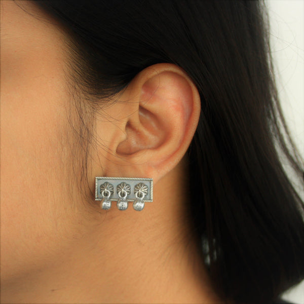 Casual 92.5 silver designer earrings