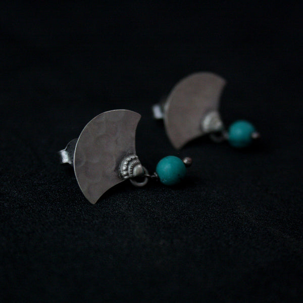 Turquoise Fan Studs - Quirksmith