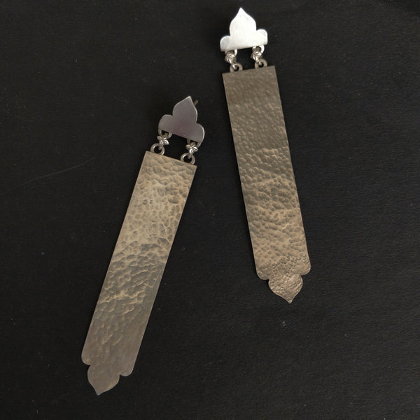 Hammered Long Earrings