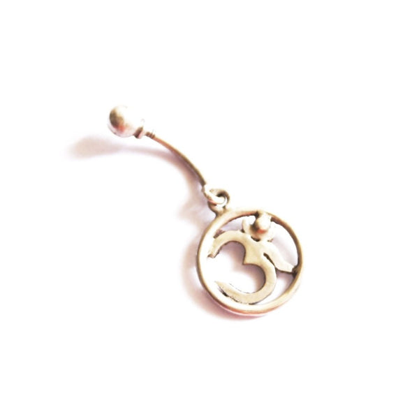 Om Belly Ring