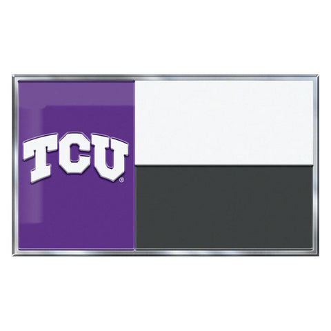 TCU Horned Frogs Auto or Hard Surface Emblem Decal NCAA Licensed (State Flag)