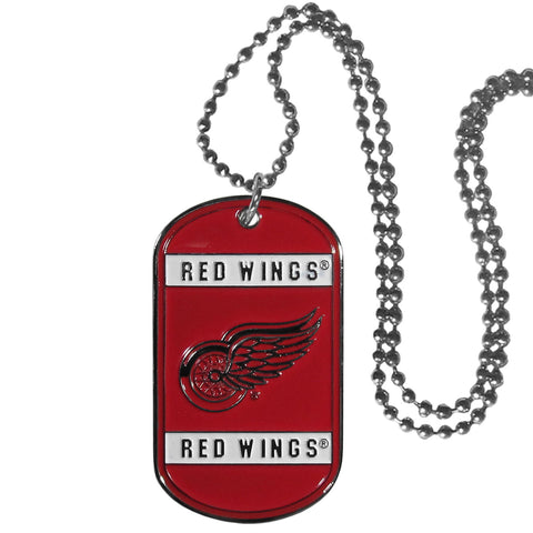 Detroit Red Wings Metal Tag Necklace NHL Licensed Hockey Jewelry