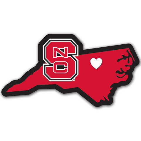 North Carolina State Wolfpack Home State Vinyl Auto Decal NCAA (North Carolina Shape)