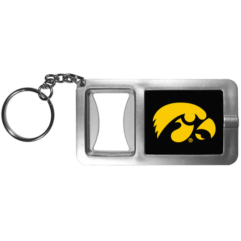Iowa Hawkeyes Flashlight Key Chain with Bottle Opener NCAA