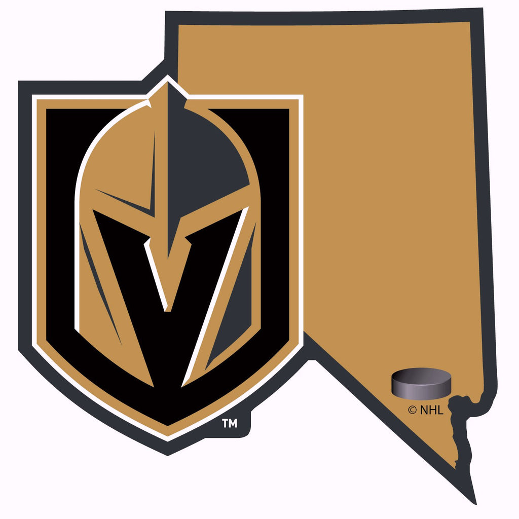 Vegas Golden Knights Home State Vinyl Auto Decal Nhl