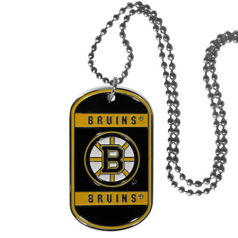 Boston Bruins Metal Tag Necklace NHL Licensed Hockey Jewelry