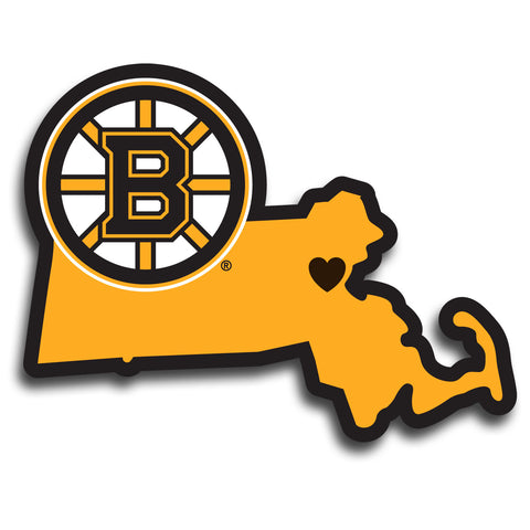 Boston Bruins Home State Vinyl Auto Decal (NHL) Massachusetts Shape