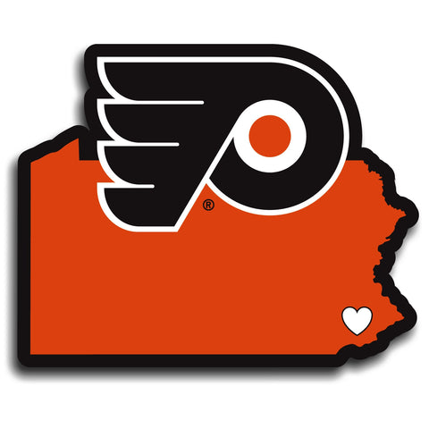 Philadelphia Flyers Home State Vinyl Auto Decal (NHL) Pennsylvania Shape