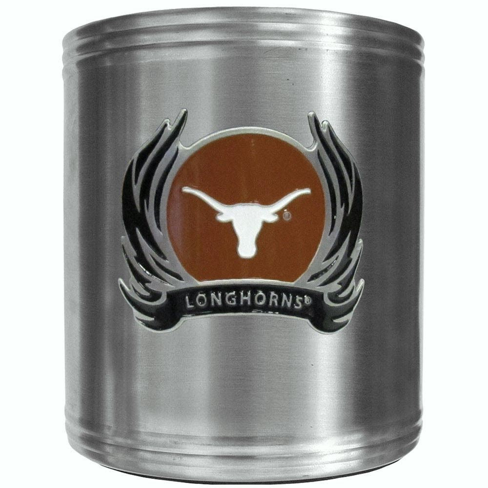 Texas Longhorns Insulated Stainless Steel Can Cooler Coozie (Flames) (NCAA)