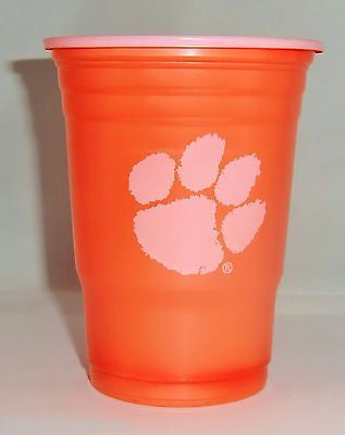 Clemson Tigers 18 count 18 oz Disposable Plastic Cups (NCAA)
