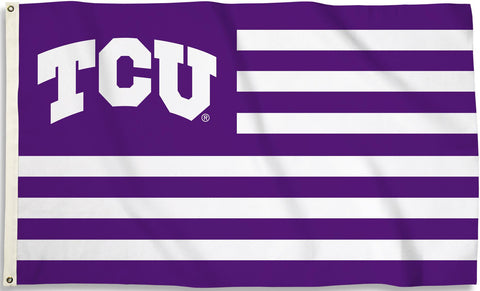TCU Horned Frogs 3' x 5' Flag (Stripes) NCAA