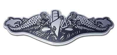 U.S. Navy Chrome Auto Emblem (Submarine Dolphins Insignia) Officially Licensed