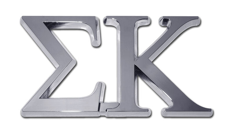 Greek Sorority Sigma Kappa Chrome Auto Emblem