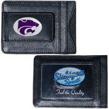 Kansas State Wildcats Fine Leather Money Clip (NCAA) Card & Cash Holder