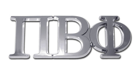 Greek Sorority Pi Beta Phi Chrome Auto Emblem