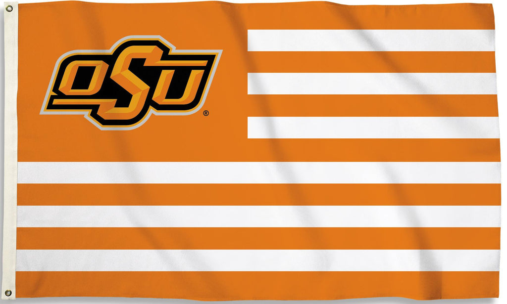 Oklahoma State Cowboys 3' x 5' Flag (Stripes) NCAA
