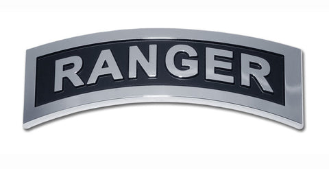 U.S. Army Ranger Chrome Auto Emblem Military