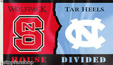North Carolina Tar Heels NC State Wolfpack 3' x 5' House Divided Flag NCAA