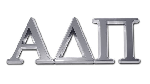 Greek Sorority Alpha Delta Pi Chrome Auto Emblem