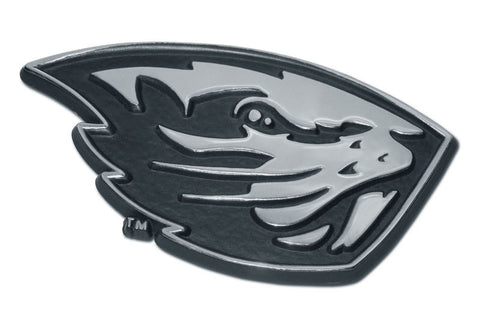 Oregon State Beavers Chrome Metal Auto Emblem (Beaver) NCAA