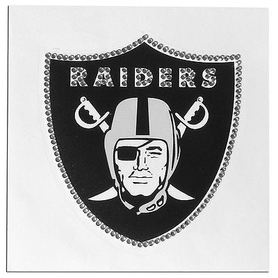 Oakland Raiders Vinyl Bling Auto Decal (NFL)