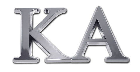 Greek Fraternity Kappa Alpha Chrome Auto Emblem