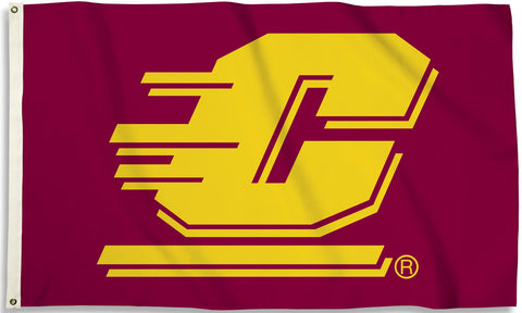Central Michigan Chippewas 3' x 5' Flag (Logo Only) NCAA