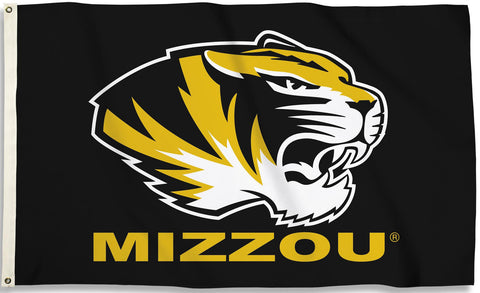 Missouri Tigers 3' x 5' Flag (Tiger With Mizzou) NCAA