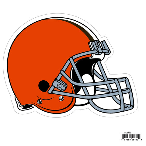 Cleveland Browns Licensed Outdoor Rated Magnet (NFL) Football Helmet