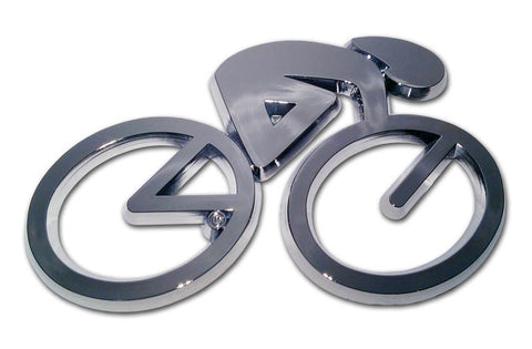 Cycling Chrome Auto Emblem (3D)