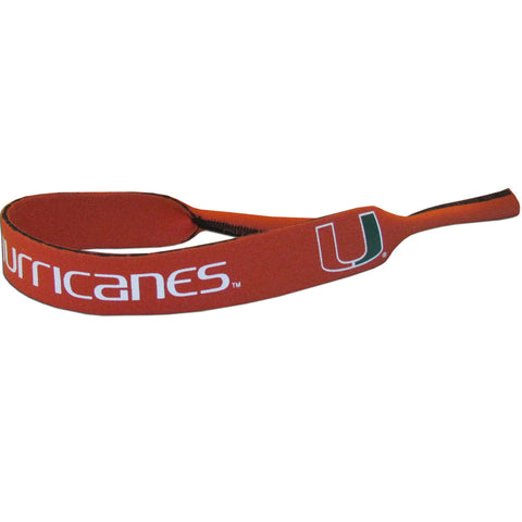 "Miami Hurricanes 16"" Neoprene Sunglasses Strap (Croakies) NCAA"