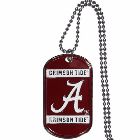 Alabama Crimson Tide Metal Tag Necklace NCAA Licensed Jewelry