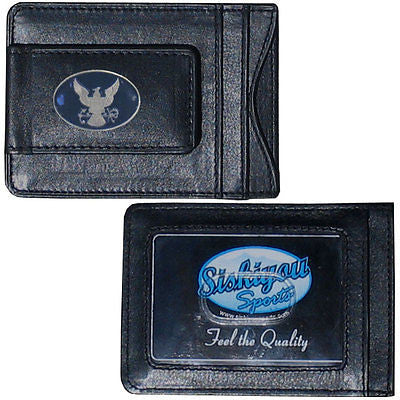 U.S. Navy Fine Leather Money Clip (Military) Card & Cash Holder