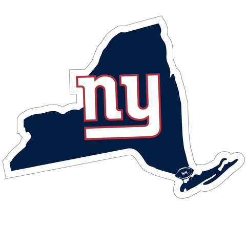 New York Giants Home State Magnet (NFL) New York Shape